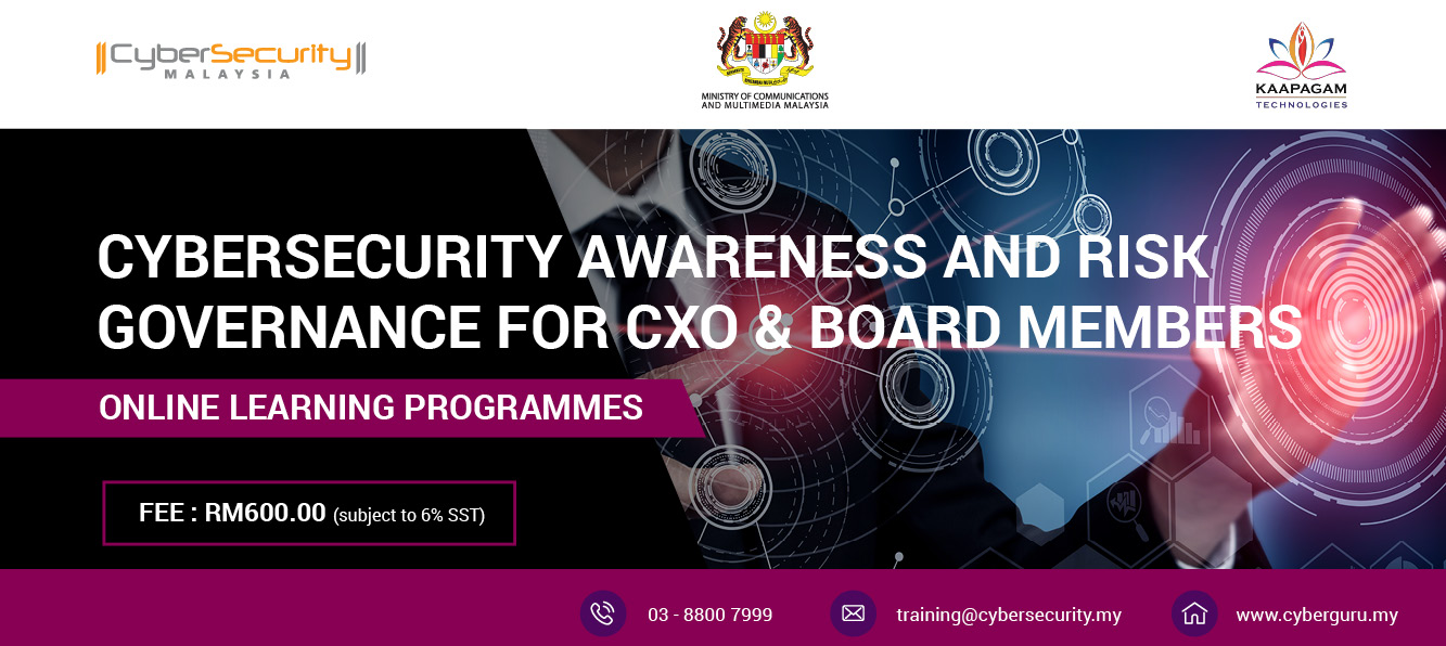 Cyber Security Awareness and Risk Governance for CxO & Board Members
